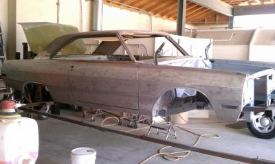 1970 Dodge Dart down to bare metal