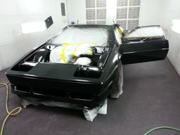 Lotus in the paint booth